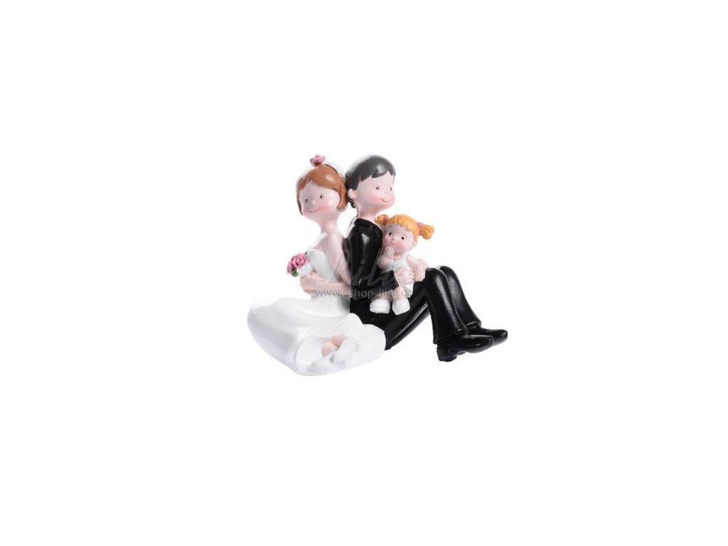 Svatební pár s holčičkou MO28476