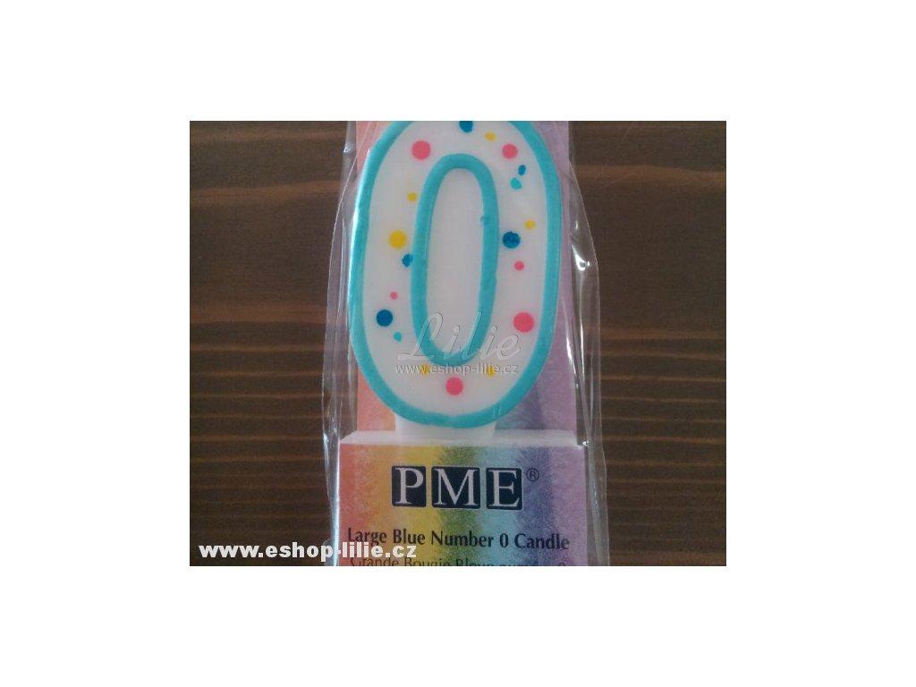 Narozeninová modrá svíčka 0 PME CA060