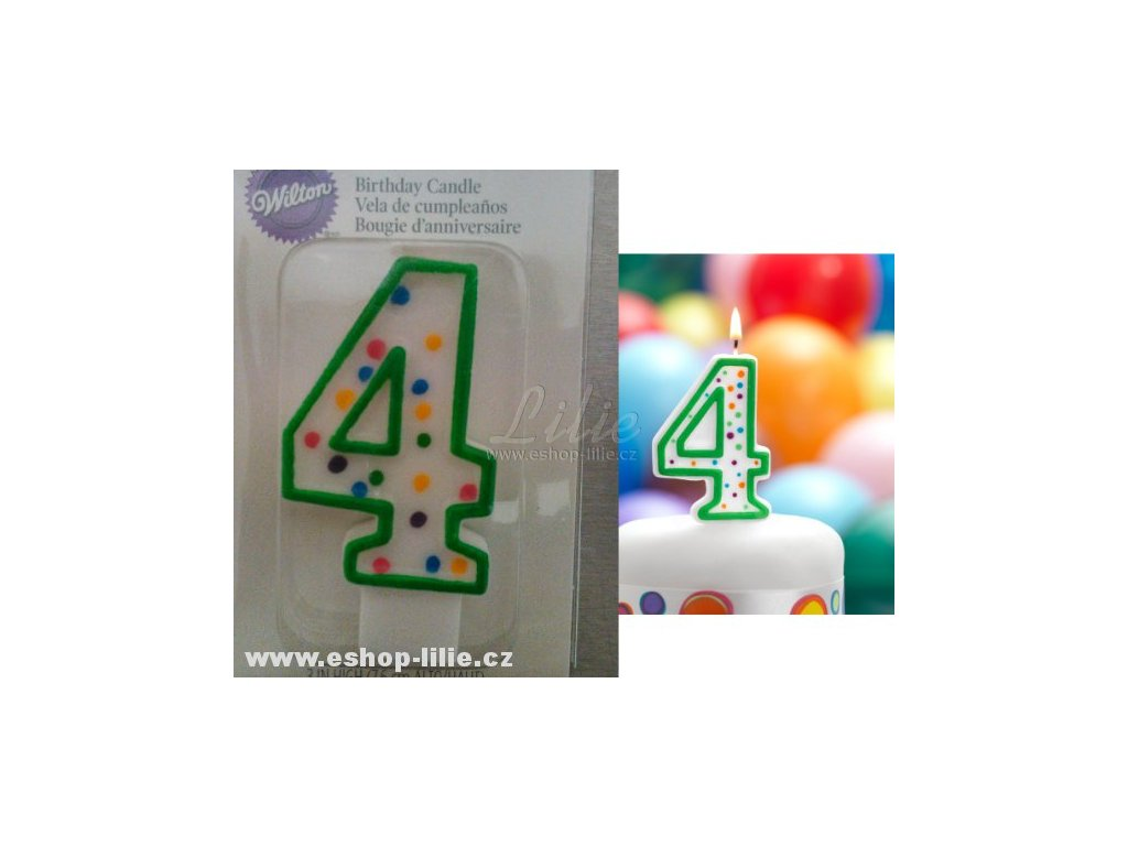 Dortová svíčka 4 Wilton 2811-9104