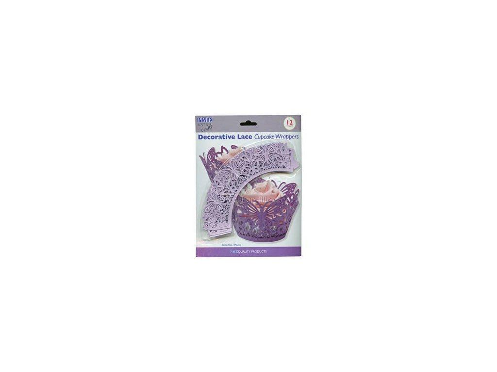 WRAPPERS CW931 ozdobné košíčky fialové PME