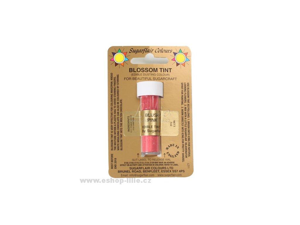 RŮŽOVÁ Blush Pink prachová barva Sugarflair