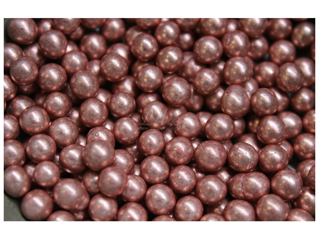Růžové metalické cukrové perličky CRI041