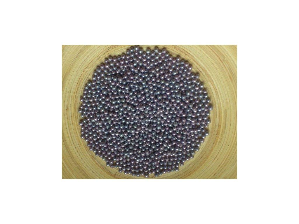 Fialovo-šedé metalické cukrové perličky CRI031