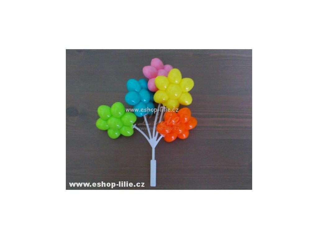 Svazek plastových květin dortová dekorace