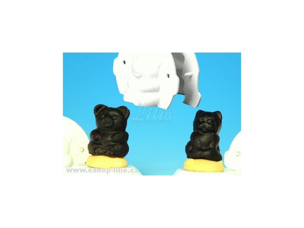 Medvídek a kočička formičky na nepečené cukroví