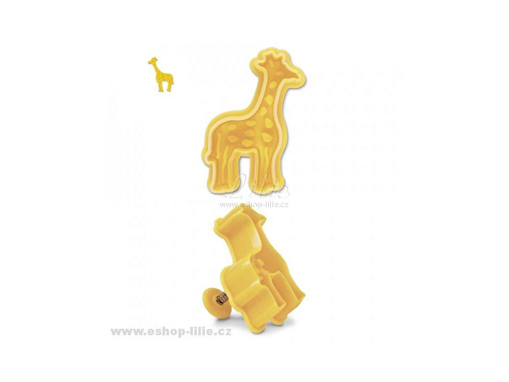 Žirafa plastový vypichovač 170322