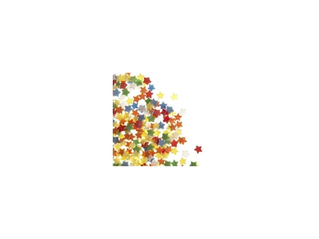 Barevné cukrové hvězdičky FL25822-1