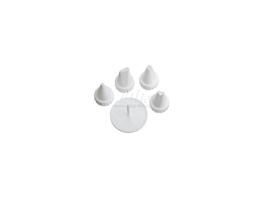 Čtyři plastové špičky a jehla Wilton 418-47300