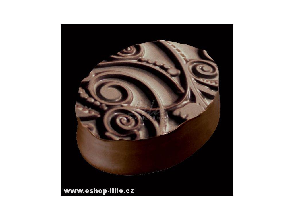 Květinová strukturální folie na čokoládu a marcipán
