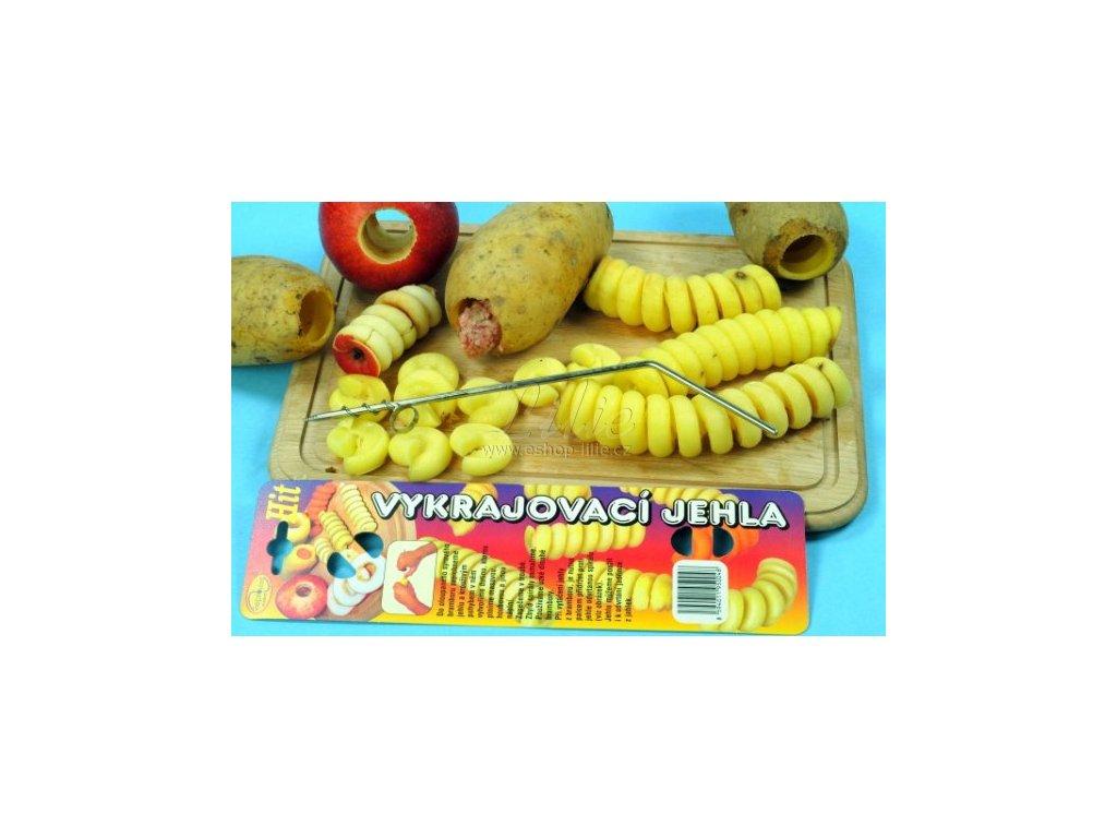 Vykrajovací jehla na plněné brambory