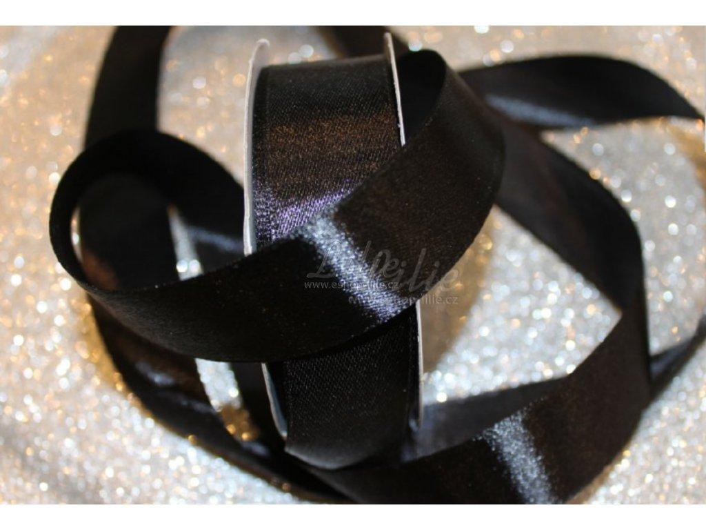 Černá saténová stuha TS25-010