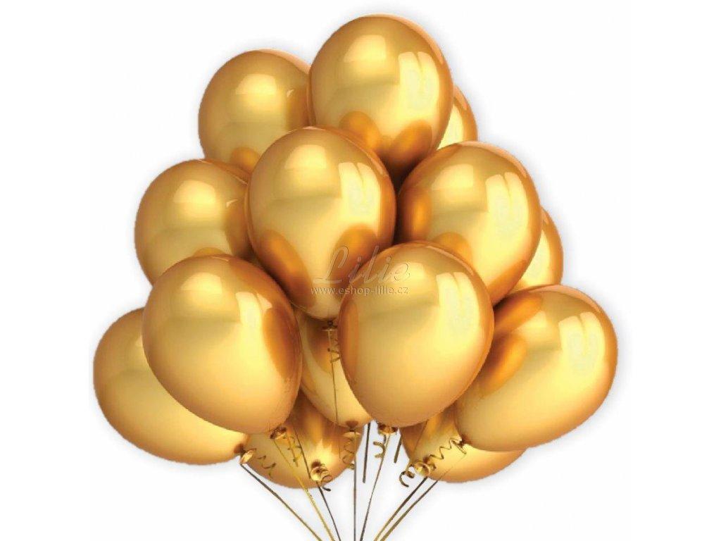 Balónky zlaté 7ks B-31