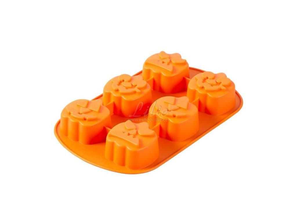 2105 4939 Wilton Jack O Lantern Silicone Mold 6 Cavity A1