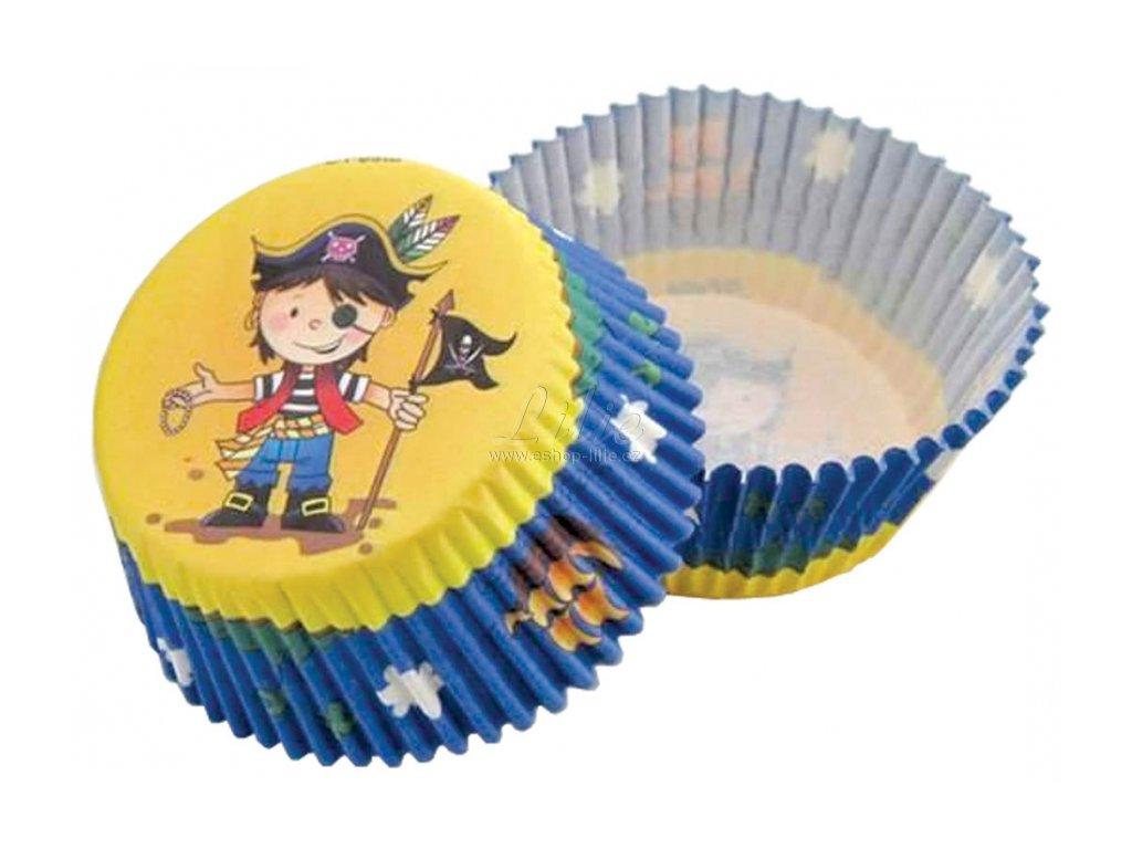 Pirát cukrářské košíčky na pečení 50ks Muf-59