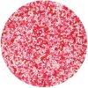 Růžovo-bílo-červené perličky G42570 cukrářské zdobení