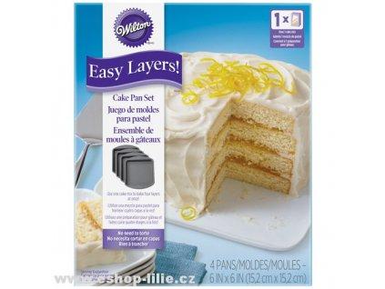 Čtverce sada teflonových dortových forem 2105-5748