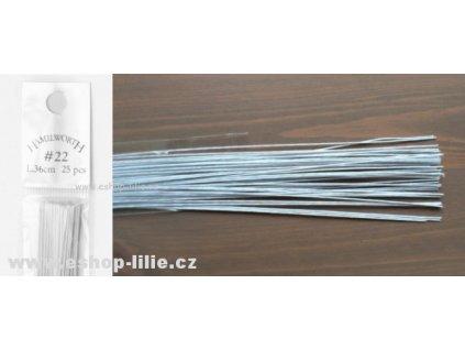 Bílé floristické drátky č.22 25kusů Hamilworth