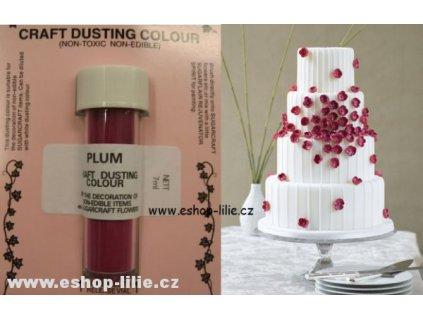 Švestková prachová nejedlá dekorativní barva