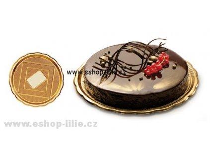 Zlatý tác pod dort 28cm
