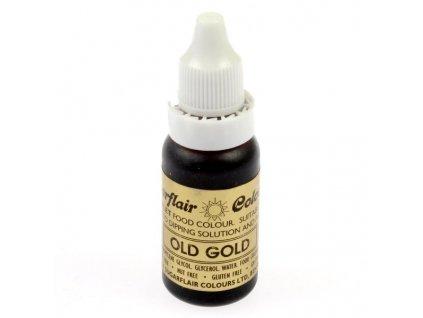 Béžová Old Gold potravinářská tekutá barva