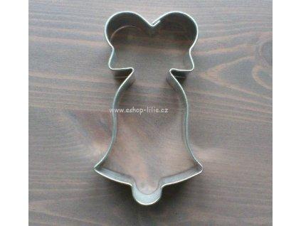 Zvoneček malý s mašlí vykrajovátko
