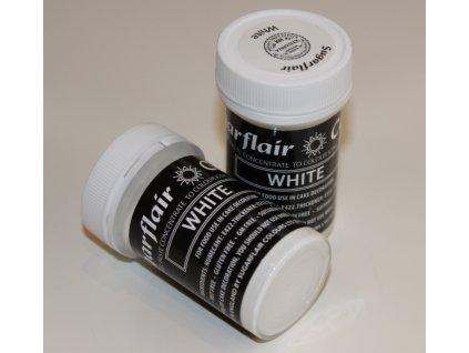 bílá gelova barva