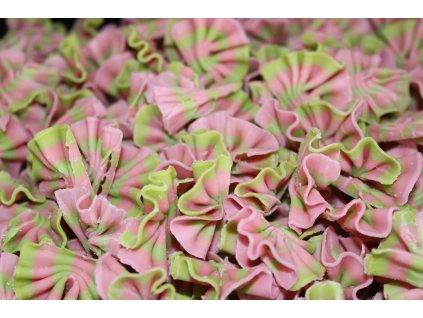 Čokoládové mašličky růžovo-zelené