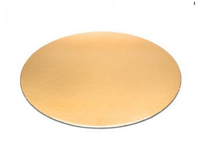 Zlatá jednostranná slabší podložka kruh 14cm