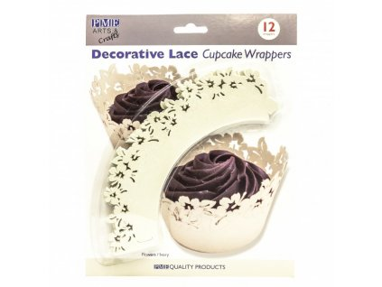 kvetinove lemovky na cupcakes smotanove 12 ks 6208