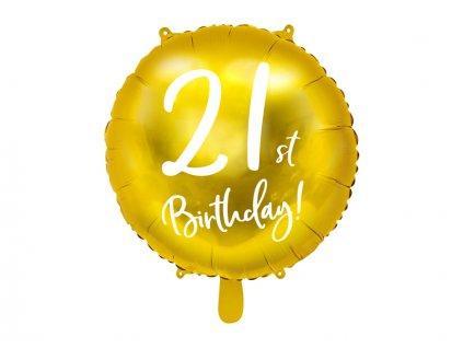Zlatý fóliový balónek 21 FB24M-21-019