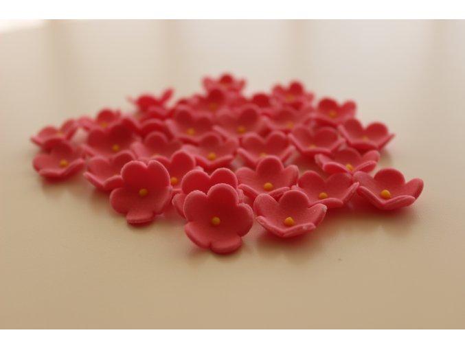 Růžové cukrové kytičky PM132BPI 30ks
