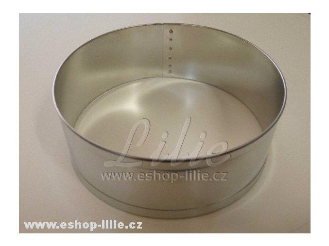 Ráfek kruh 18cm pocínovaný plech dortová forma