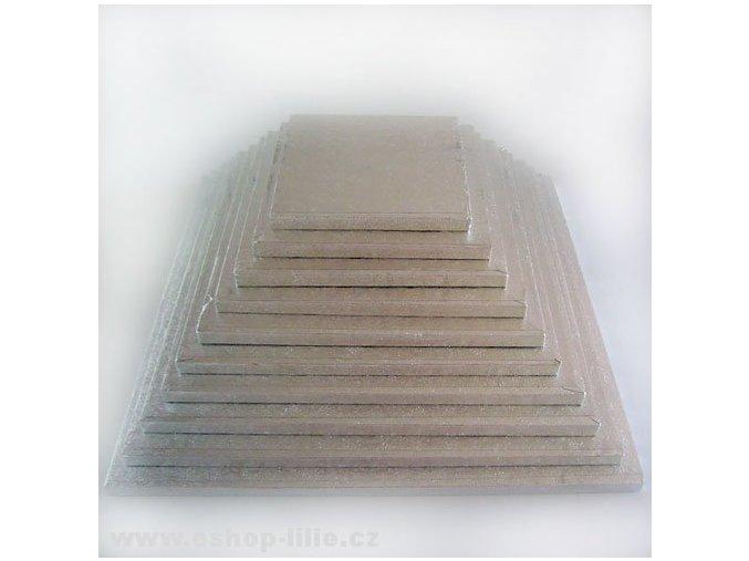 Vyšší dortová podložka čtverec 38cm FC638VK