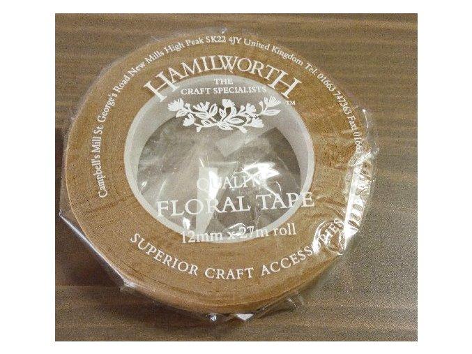 Světle hnědá floristická páska Hamilworth