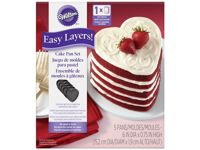 Srdce sada dortových teflonových forem 2105-5495