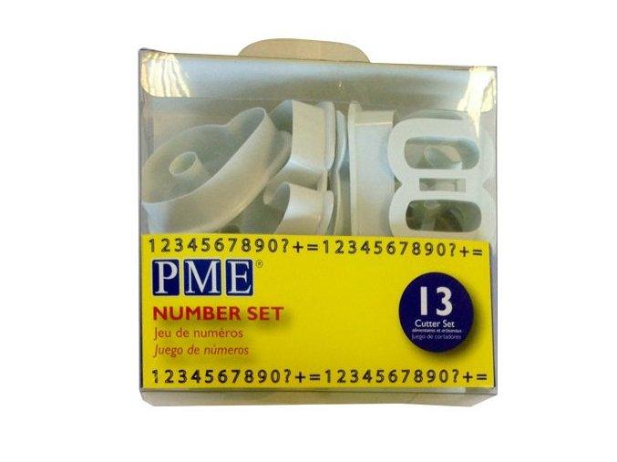 Čísla - plastová vykrajovátka PME (AN301)