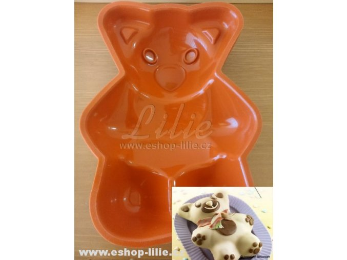 Medvěd SFT204 silikonová forma na dort