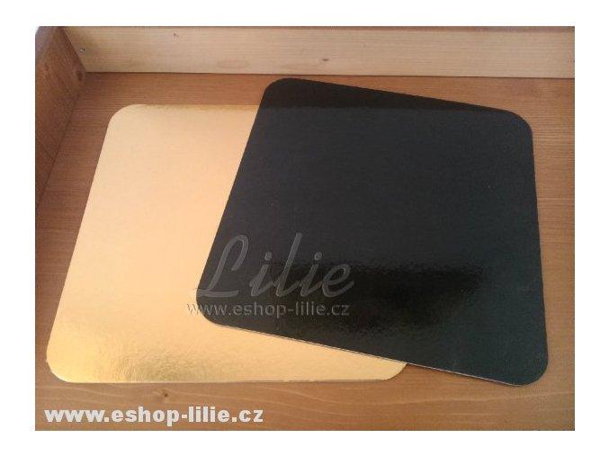 Oboustranná čtvercová podložka zlatá 30cm