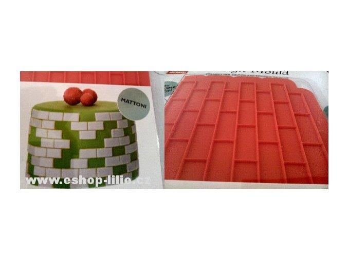 Mattoni silikonová forma na cukrářské hmoty 30722