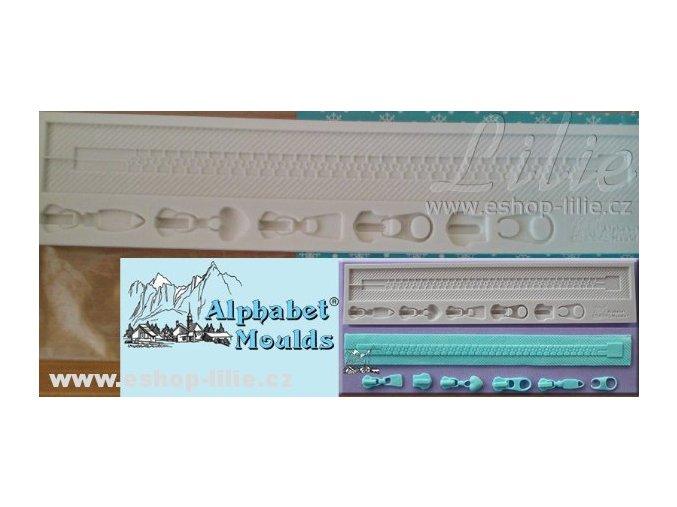 Zip silikonová forma AM0168  na cukrářské hmoty