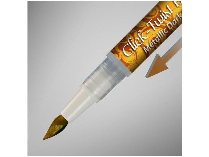 TMAVĚ ZLATÉ metalické pero Click Twist