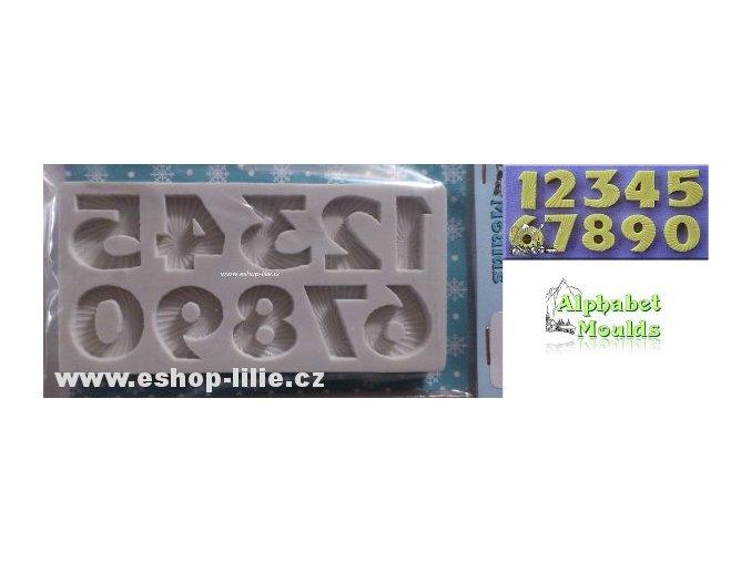 Starburst čísla AM0130 silikonová forma
