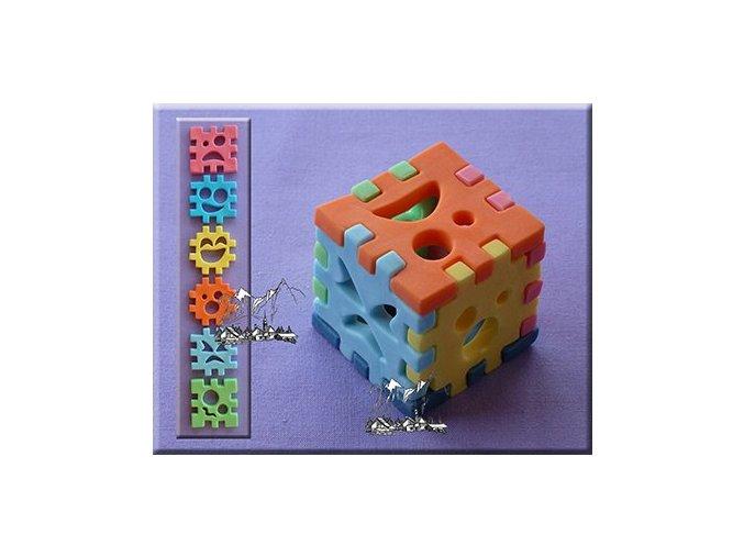 Kostky 3D silikonová forma AM0137