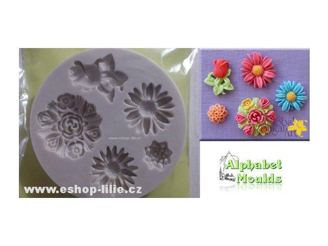 Květiny silikonová forma GSA0009