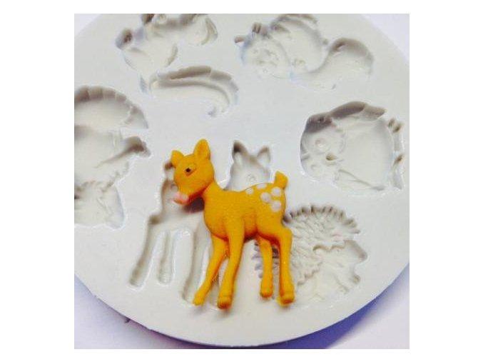 Lesní zvířátka silikonová forma AM0160