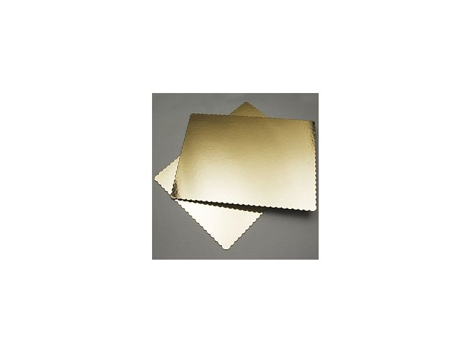 Zlato-černá kartonová podložka obdelník s lemem 35cm x 25cm
