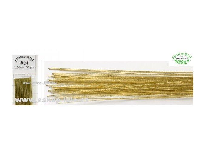 Zlaté floristické drátky 24 Hamilworth
