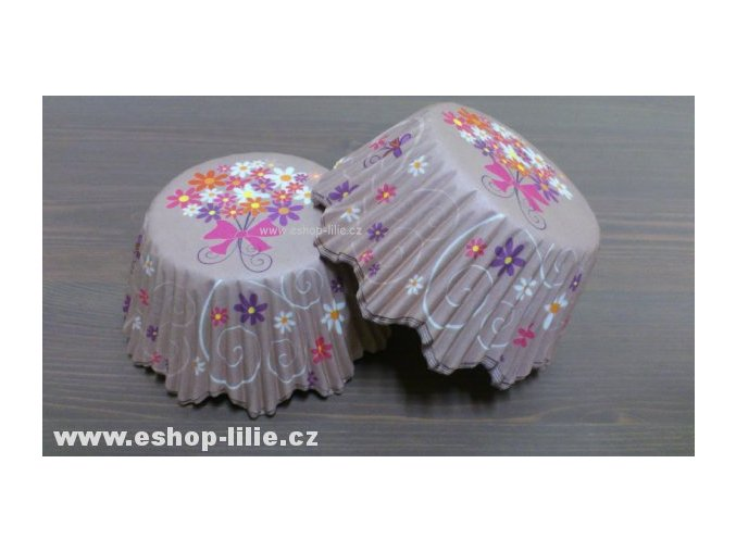 Květinové cukrářské košíčky 100kusů 335769