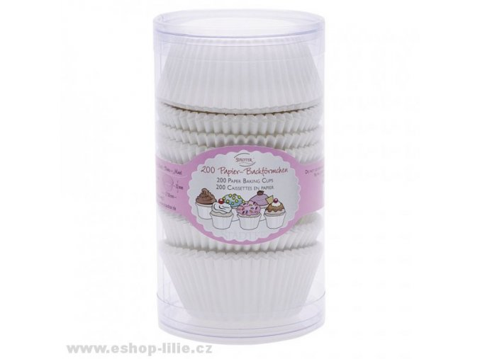 Cukrářské košíčky bílé 200 kusů 335417