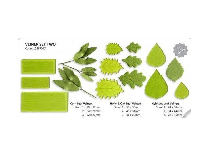Sada listů se žilkováním 2 JEM 103FF043